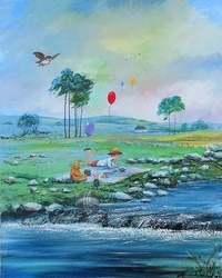 Summer in The 100 Acre Wood <br>from Winnie The Pooh Canvas