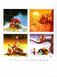 The Many Seasons Of Pooh Poster