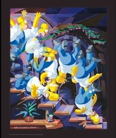 The Simpsons, Homer Descending a Staircase - Simpsons Art