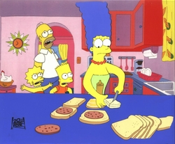 The Simpsons Original Production Cel