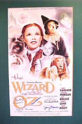 The Wizard Of Oz Movie <br>Litho 7 signatures