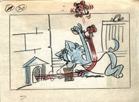 Tom & Jerry Storyboard #20 from 1961 - Tom & Jerry