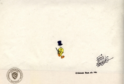 Tweety Original Prod. Cel signed