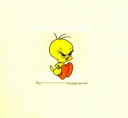 Tweety Upset<br> Small Etching