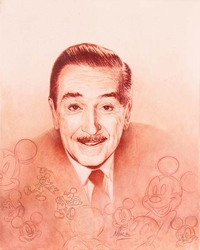 Walt Disney <br>Portrait Canvas