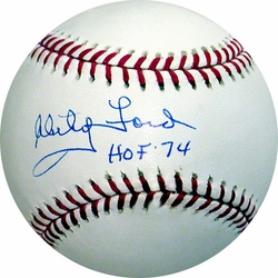 Whitey Ford Signed<br> Baseball w/ HOF