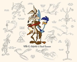 Wile E. Coyote and Road Runner Model Sheet