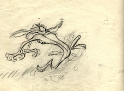Wile E Coyote Original Production Drawing