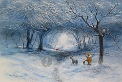 Winter Walk from<br>Winnie The Pooh Canvas