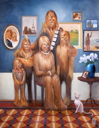 Wookiee Family Portrait<br>(Canvas)