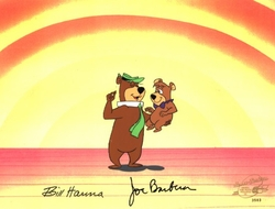 Yogi and Boo Boo Production Cel (1980's)<br><font color=red>Please Call
