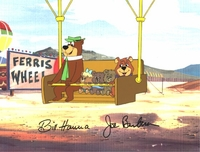 Yogi, Boo Boo & Kids Production Cel (1980's) - Yogi Bear