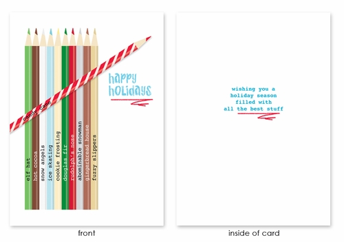 COLORED PENCILS holiday cards