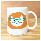 cool cat glasses mug