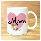 Cursive Mom With Heart Mug