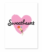 Cursive Sweet Heart Valentine's Day Card