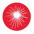 DAZZLE STAR RED coasters <br> box of 12