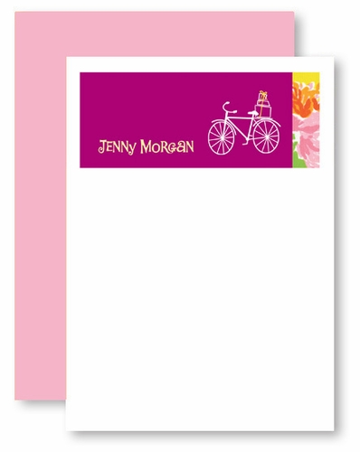 Fashion Floral BICYCLE personalized stationery