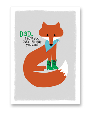 Fox Father's Day Card