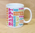 happy birthday wild words mug