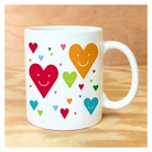 happy hearts <br> mug