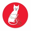 HOLIDAY KITTEN coasters <br> box of 12