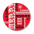 MERRY WORDS coasters <br> box of 12