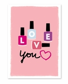 Nail Polish Valentine's Day Card