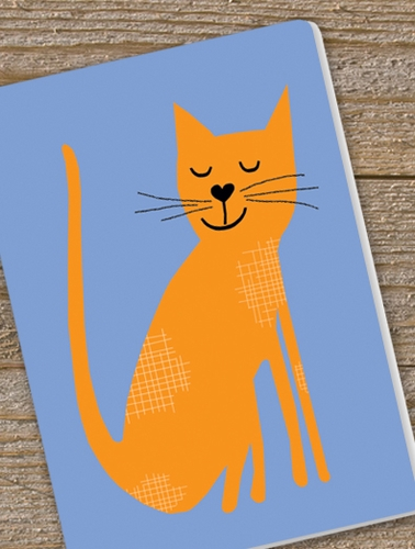 ORANGE KITTEN journal with lined pages