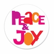 PEACE AND JOY coasters <br> box of 12