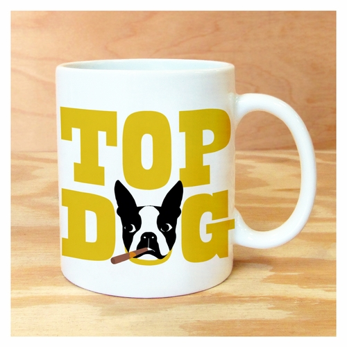 top dog - boston terrier mug