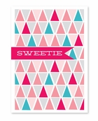 Triangle Pattern Valentine's Day Card