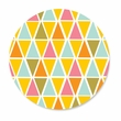 YELLOW BIG TRIANGLES coasters <br> box of 12