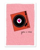You & Me Turntable Valentine's Day Card