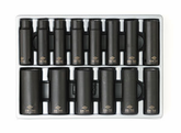 "1/2"" Drive Metric 6 Point Deep Impact Socket Set - 14 Pc."