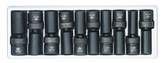 "1/2"" Drive Metric 6 Point Deep Universal Impact Socket Set - 10 Pc."