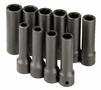 "10 Piece 1/2"" Drive 6 Point Deep Metric Impact Socket Set"
