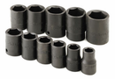 "11 Piece 1/2"" Drive 6 Point Standard Fractional Impact Socket Set"