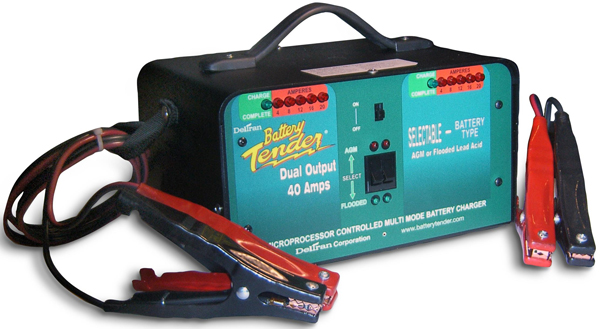 Image of 12 Volt Battery Tender Heavy Duty Dual Output Battery Charger 20 Amps