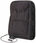 12-Volt Black Suede Heated & Massaging Back Cushion