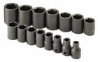 "15 Piece1/2"" Drive 6 Point Standard Fractional Impact Socket Set"