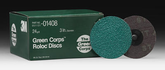 "3M Green Corps 3"" Roloc Discs 24 Grit (25 Pack)"