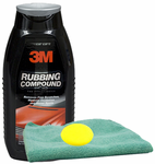 3M PERFECT-IT II Rubbing Compound (16 oz), Microfiber Cloth & Foam Pad Kit