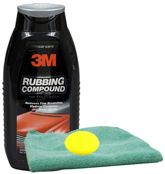3M PERFECT-IT II Rubbing Compound 16 oz Microfiber Cloth & Foam Pad Kit