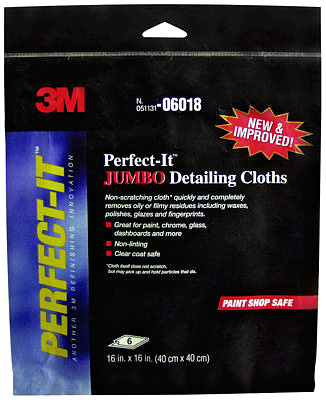 3M Perfect-It Jumbo Detailing Cloths 6 Pack