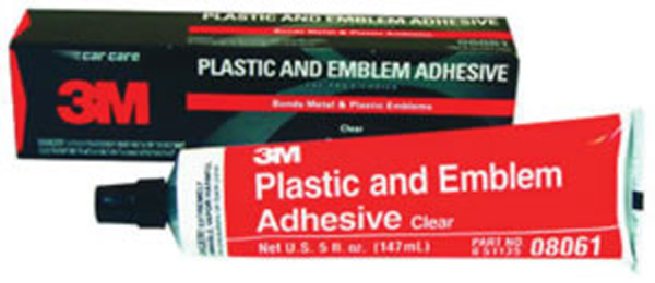 3M Plastic and Emblem Adhesive Clear - 5 oz. Tube