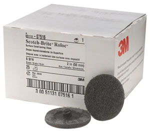 """3M Scotch-Brite Roloc  2"""" UltraFine/Gray Surface Conditioning Discs 25 Pack"""