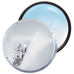 "8"" Stainless Steel Adjustable Offset Stud Convex Mirror"