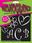 85 Piece Monogramz Custom Letter Vinyl Decal Set