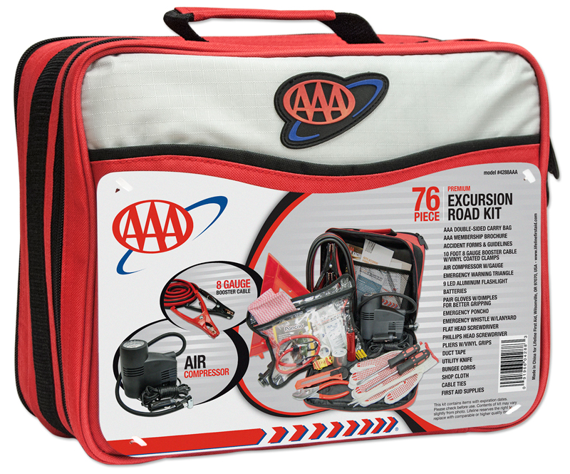 AAA 76 Piece Excursion Road Emergency Kit
